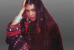Model in Balochi Dress