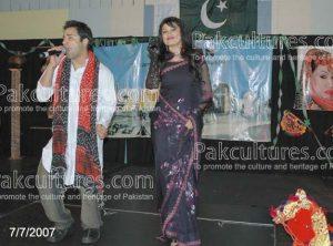 Singer singing traditional Pakistani songs